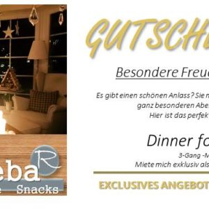 Gutschein Dinner for two